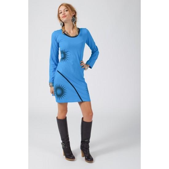 Bombažna obleka z vzorcem Obleke in tunike