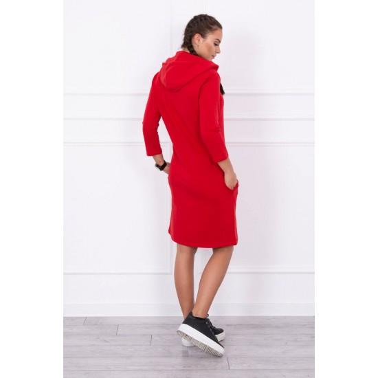 Bombažna obleka s kapuco