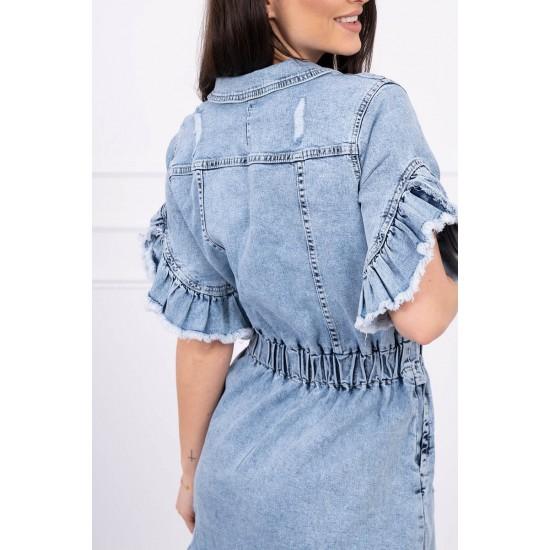 Jeans obleka z gumbi