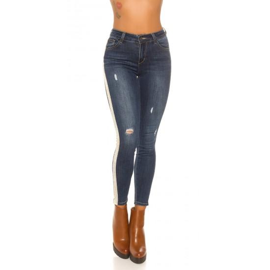 Jeans hlače s črto Jeans